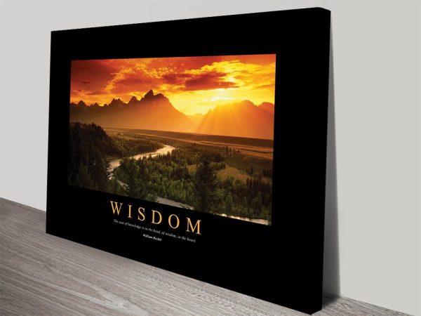 Wisdom Ready to Hang Inspiring Art AU