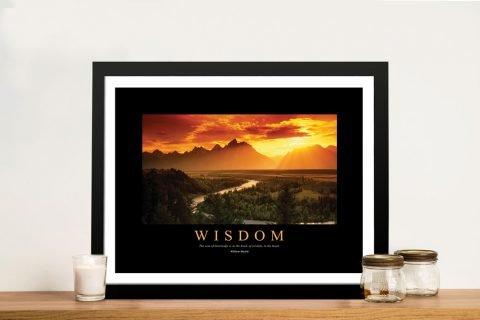 Wisdom William Hazlitt Quote Artwork