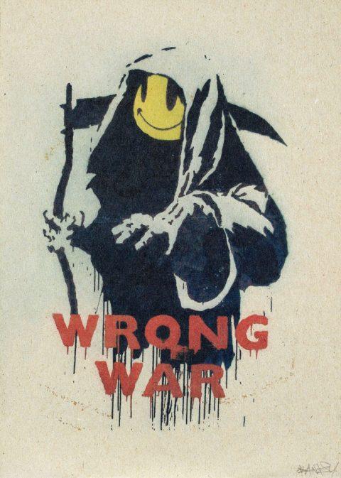 Wrong War Street Art Piece By Banksy