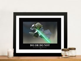 Yoda Motivational Quote Framed Wall Art