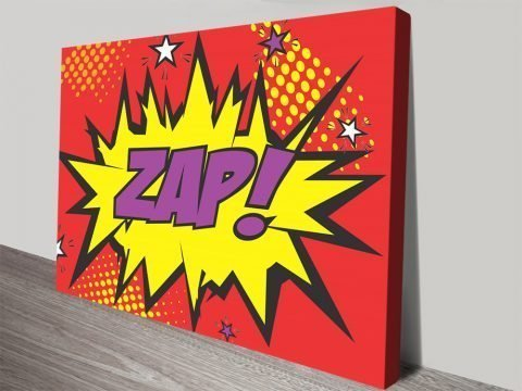 Zap! Comic Book Pop Art Home Decor AU