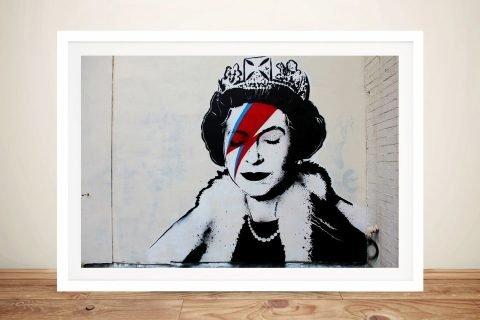 Banksy Ziggy Stardust Framed Wall Art