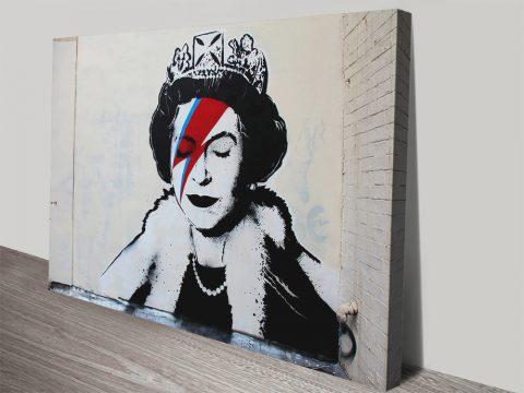 Banksy Prints Canvas Ziggy Stardust