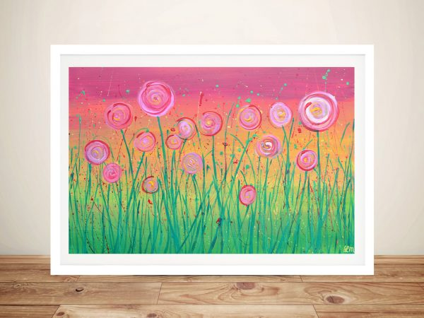 Buy an Abstract Pink Floral Painting Print