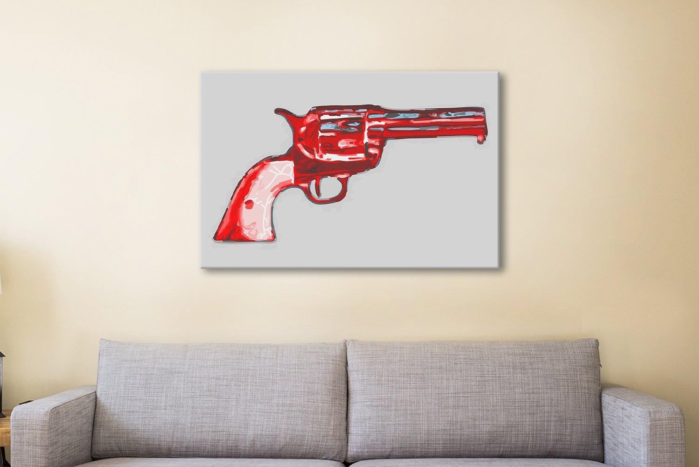 Andy warhol gun Canvas Artwork