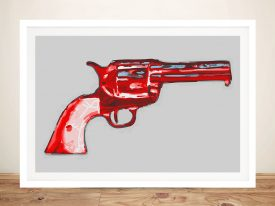 Andy warhol gun Framed Wall Art
