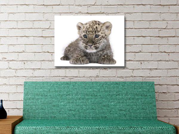 Leopard Cub Wildlife Wall Art Home Decor AU
