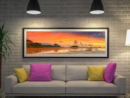 Buy a Panoramic Print of Bangka at Sunset