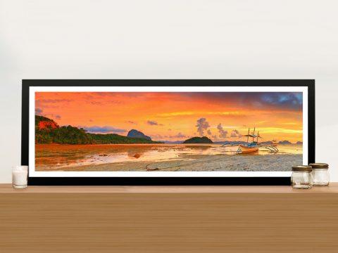 Buy Bangka at Sunset Cheap Panoramic Art AU