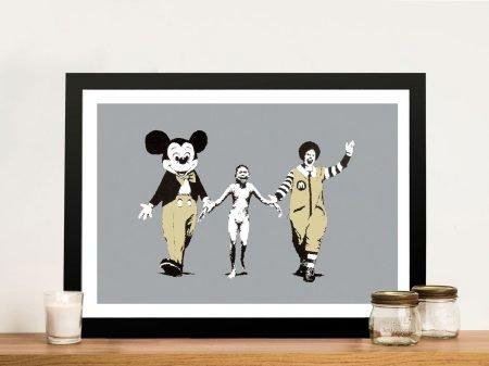 Buy Banksy Napalm Mickey Framed Art