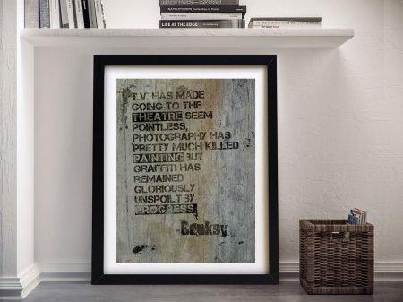 Banksy Quote Canvas Print