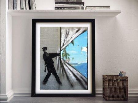 Banksy Framed Wall Art Brisbane