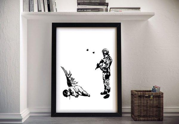 Framed Kill Cupid Graffiti Canvas Print AU
