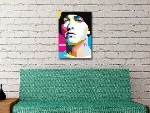 Eminem Pop Art Portrait Ready to Hang Art