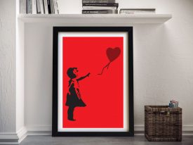 Banksy Balloon Girl Graffiti Wall Art
