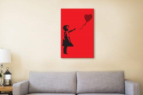 Balloon Girl Red Banksy Wall Art Australia