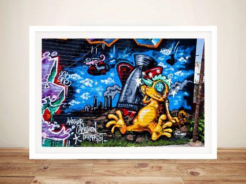 Graffiti Framed Wall Art Painting