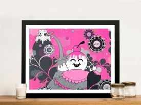 Buy a Canvas Print of Happy Pink Explosion