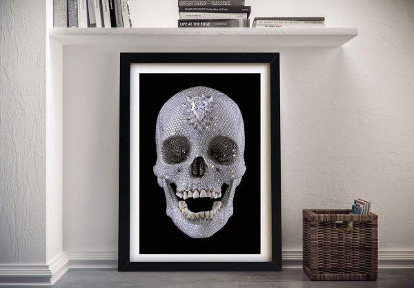 Damien hirst for the love of god Framed Wall Art