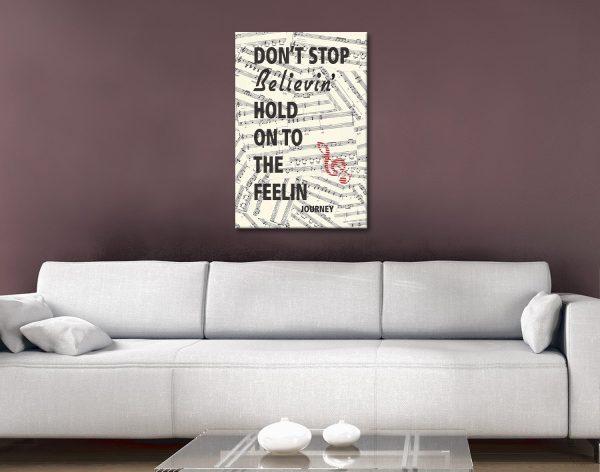 Journey Don't stop believin Canvas Artwork