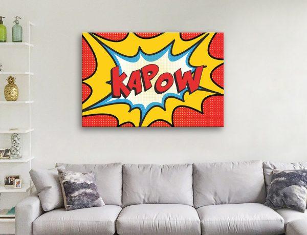 Kapow Comic Book Canvas Artwork