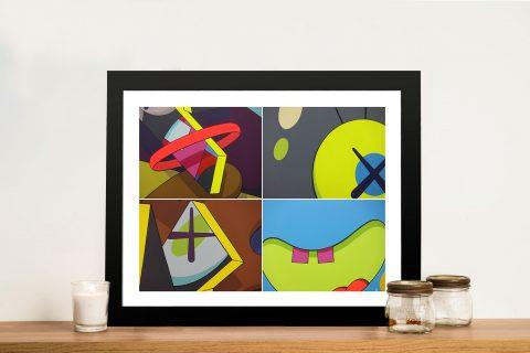 Kaws galerie Perrotin Framed Wall Art