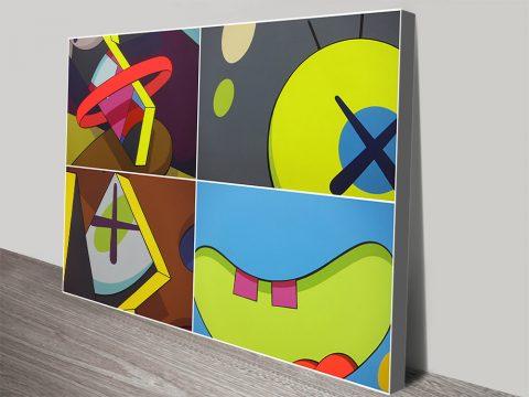 Kaws Galerie Graffiti Canvas print Australia