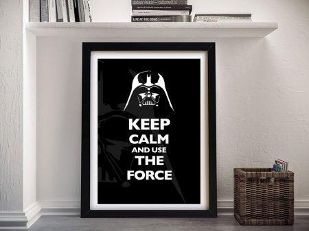 Framed Keep Calm & Use the Force Artwork