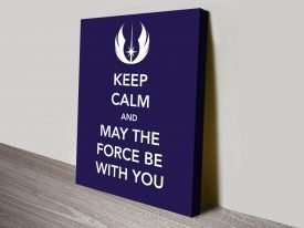Keep Calm Star Wars Wall Art