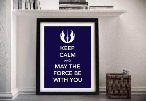 Framed Star Wars Keep Calm Art Gift Ideas AU