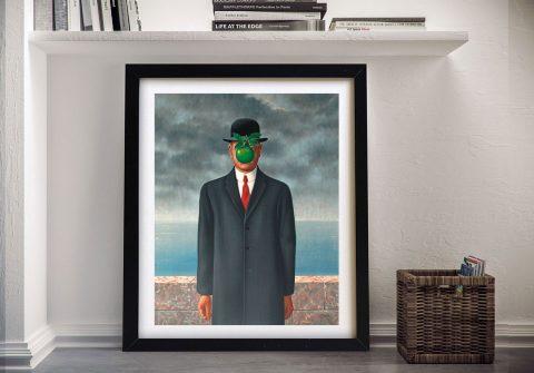 Rene Magritte son of man Framed Wall Art