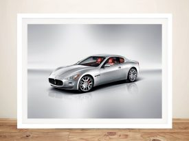 Maserati Gran Turismo Framed Print on Canvas