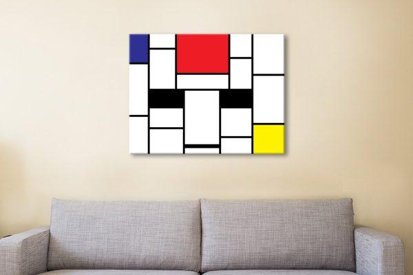 Mondrian Canvas Artwork Melbourne