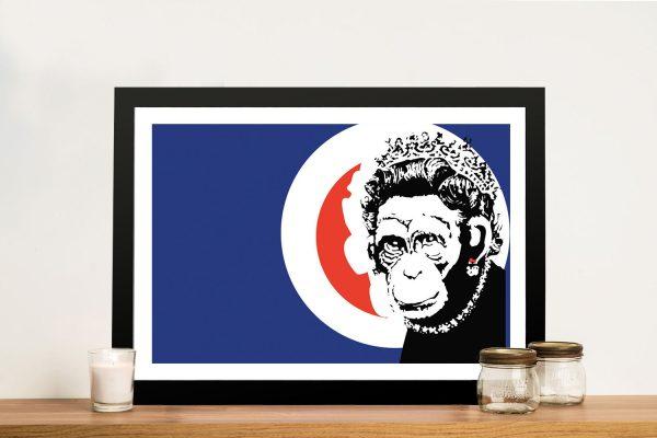 Buy a Framed Monkey Queen Banksy Print