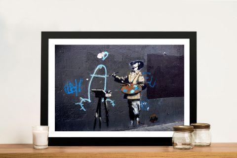 Banksy Penis painter Framed Wall Art