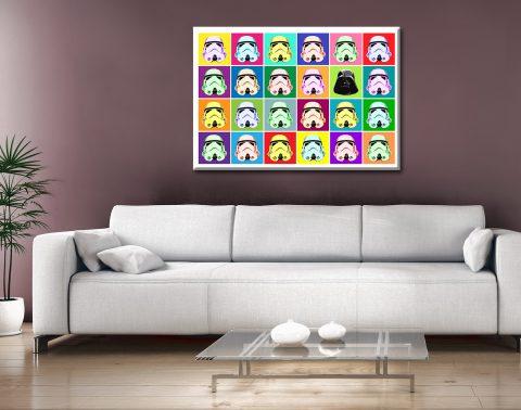 stormtrooper pop art canvas print