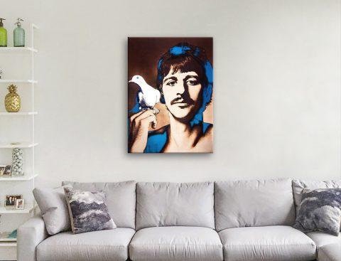 Ringo Starr Ready to Hang Canvas Wall Art