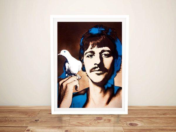 Ringo Starr Framed Pop Art Print on Canvas