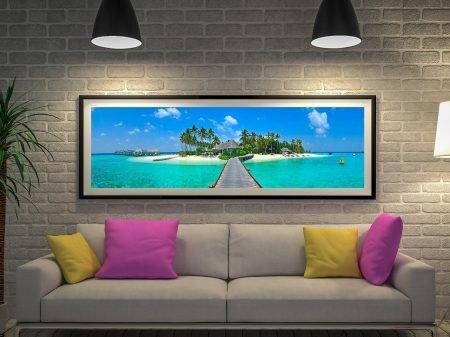 Buy The Tropical Island Panoramic Canvas Art