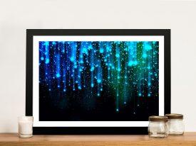 Buy Star Fall Framed Abstract Canvas Wall Art