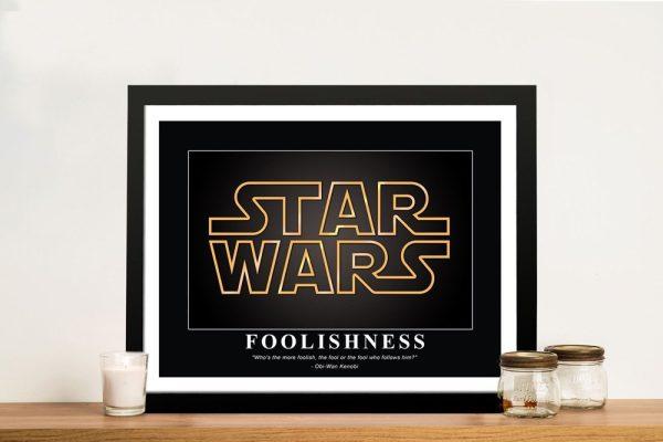 Star Wars Framed Motivational Artwork