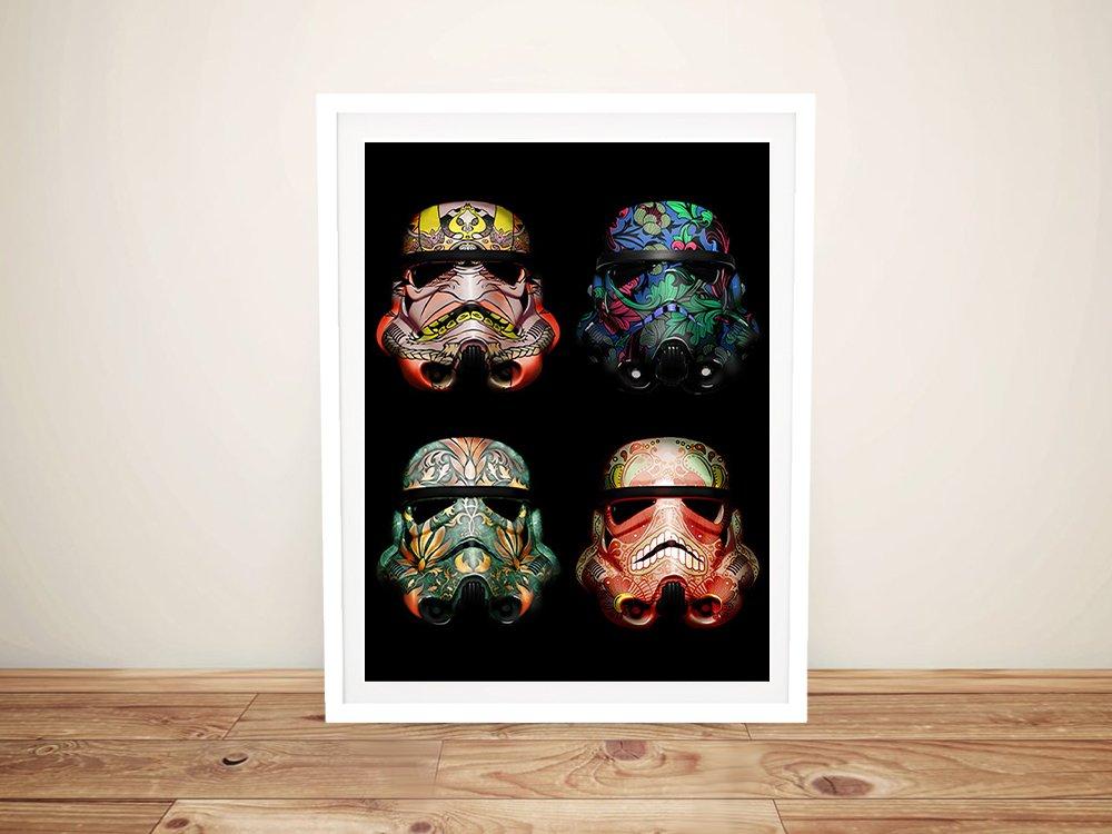 Framed Affordable Stormtooper Skull Art AU