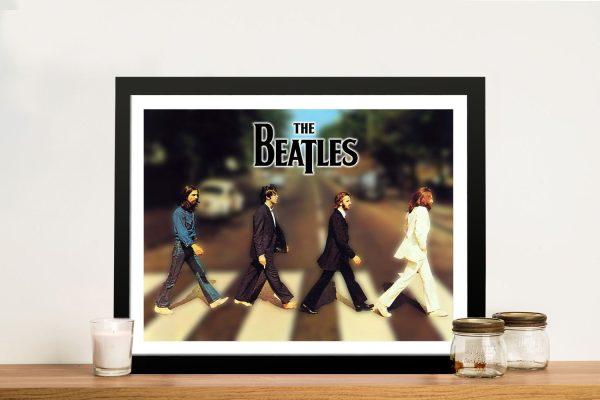 The Beatles Abbey Road Framed Canvas Art