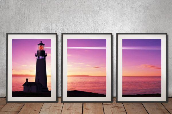 Buy The Lighthouse Triptych Art Gift Ideas AU