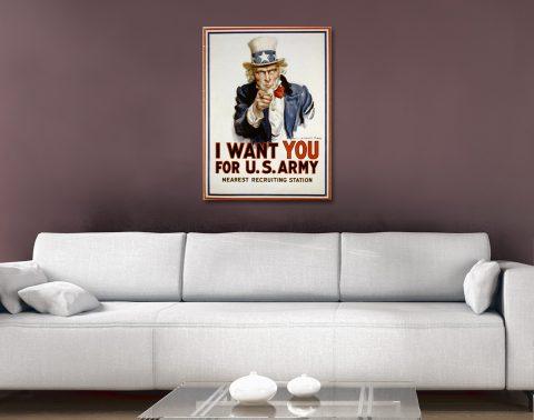 uncle sam recruitment poster Canvas Artwork