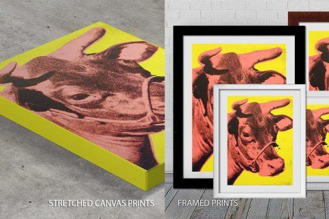 Andy Warhol cow Quality print