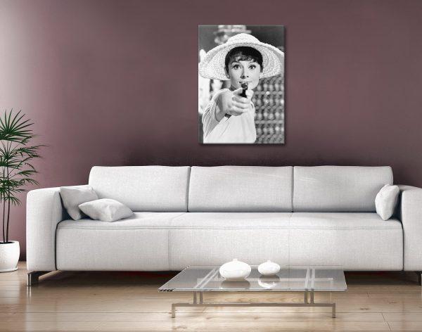Audrey Hepburn Framed Canvas Artwork