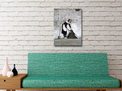 Buy a Wall Art Print of Banksy's Maid Online
