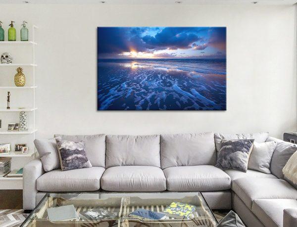 Blue Reflections Ocean Canvas Artwork