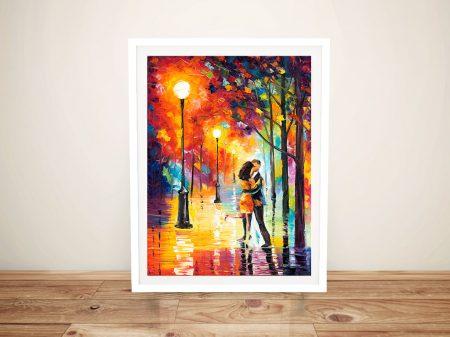 Dancing In The Rain Framed Wall Art